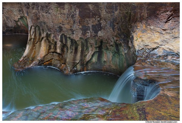 Waterfall Inside The Subway, Zion National Park