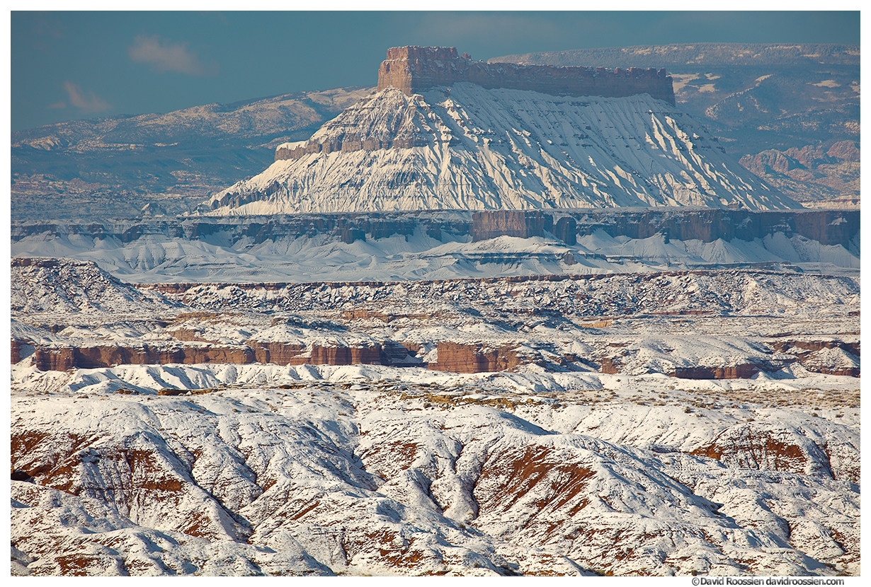 Factory Butte After Winter Storm, Caineville, Utah