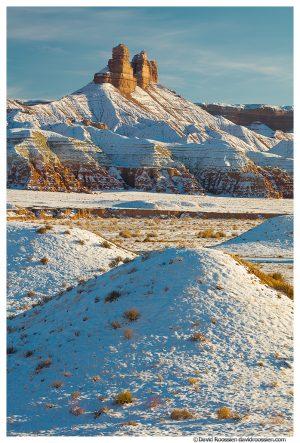 Chute Canyon Pillars in Winter, Goblin Valley, Utah